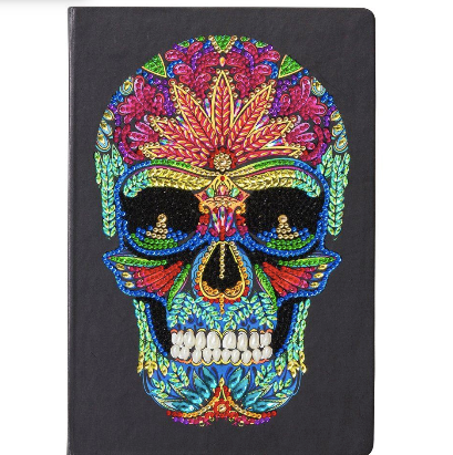 Skull Crystal Art Notebook from Dixie Dot Crafts