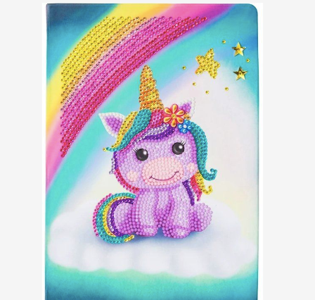 Unicorn Crystal Art notebook from Dixie Dot Crafts