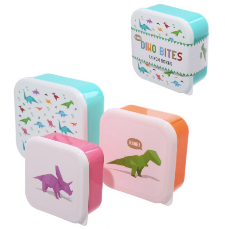 Dino Bites Lunchboxes - Set of 3