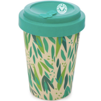 Bamboo Eco Travel Mug with rubber lid
