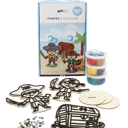 Pirate wooden foam clay kits