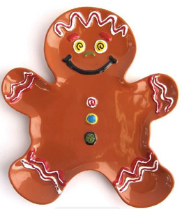 Large Gingerbread Man plate