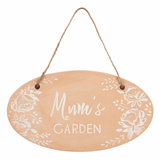 Terracotta 'Mum's Garden' Sign