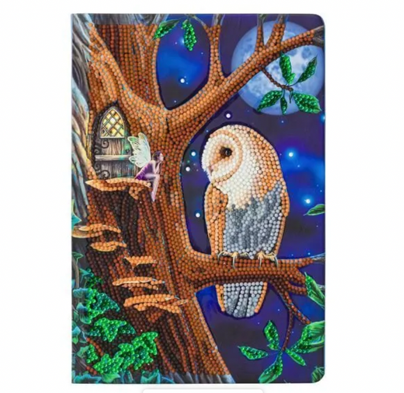 Crystal Art Owl & Fairy Notebook
