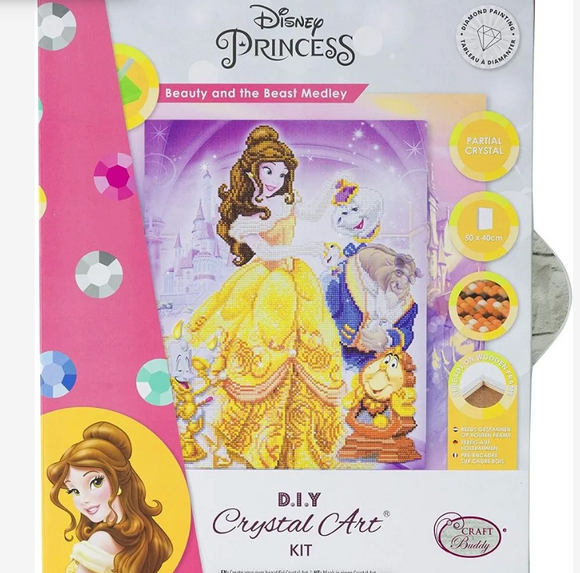 Large Crystal Art Kit - Beauty & The Beast