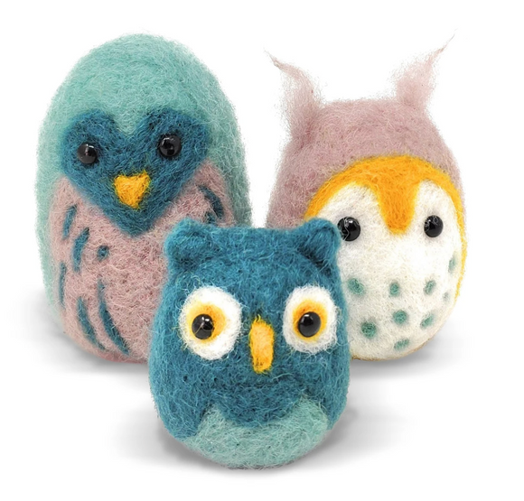 Owl Family Needle felting Kit