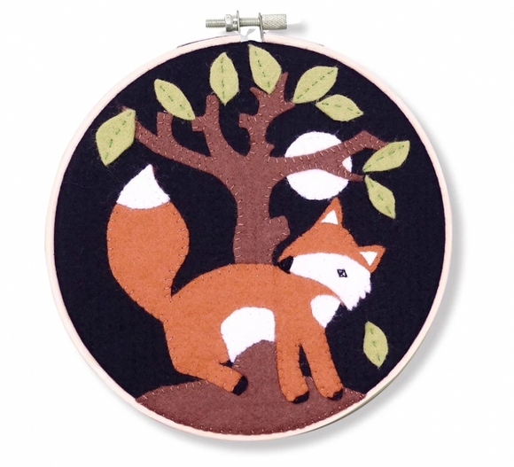 Country Fox Felt Applique Craft Kit