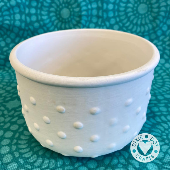 Dotty, Ringed or carved plant pot, planter, blank ready to paint from Dixie Dot Crafts