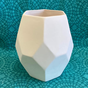Facet Prism Vase ready to be painted