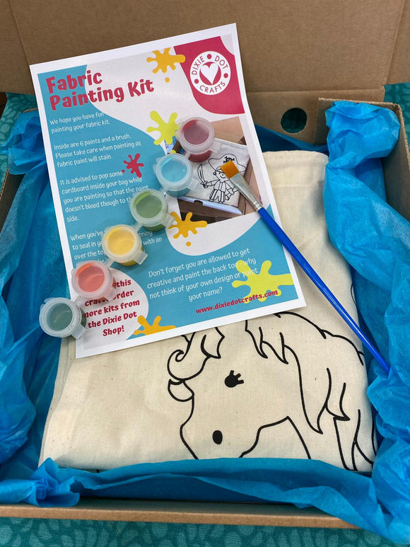 Fabric Painting Kit from Dixie Dot - Unicorn