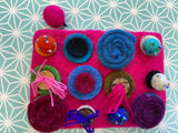 Button Felt Purse