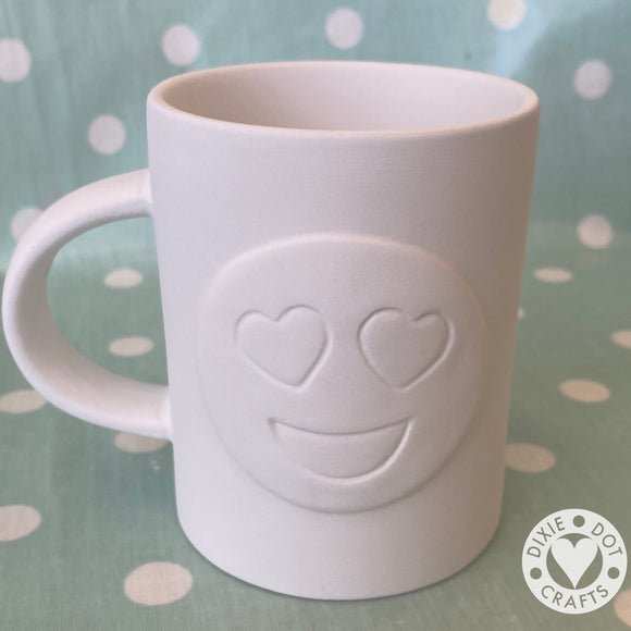 Pottery - Heart Eyes Emoji Mug