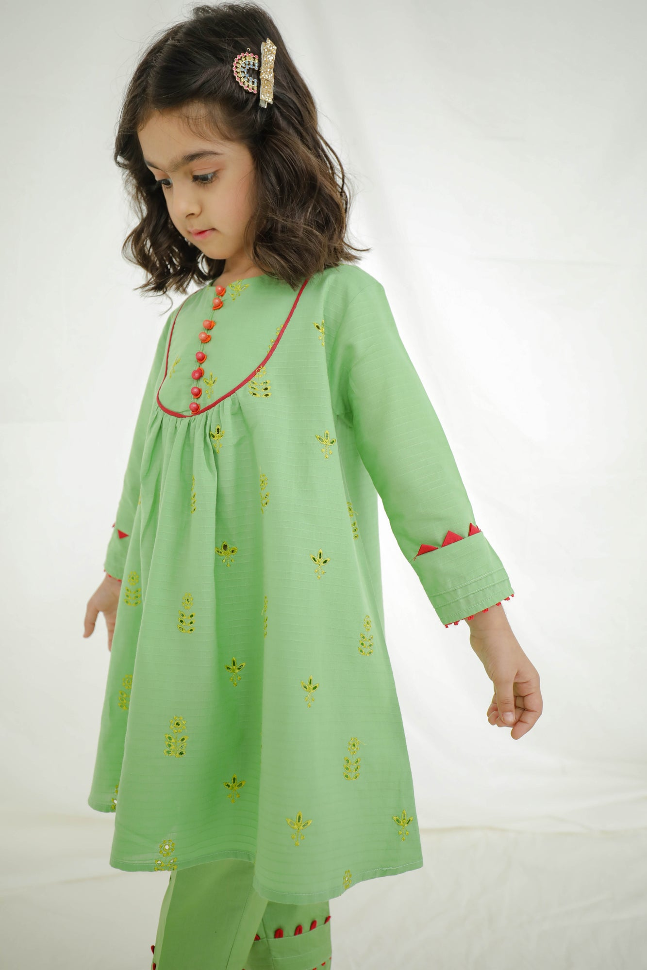 EMBROIDERED SUIT (GTB203316) - Ethnic by Outfitters