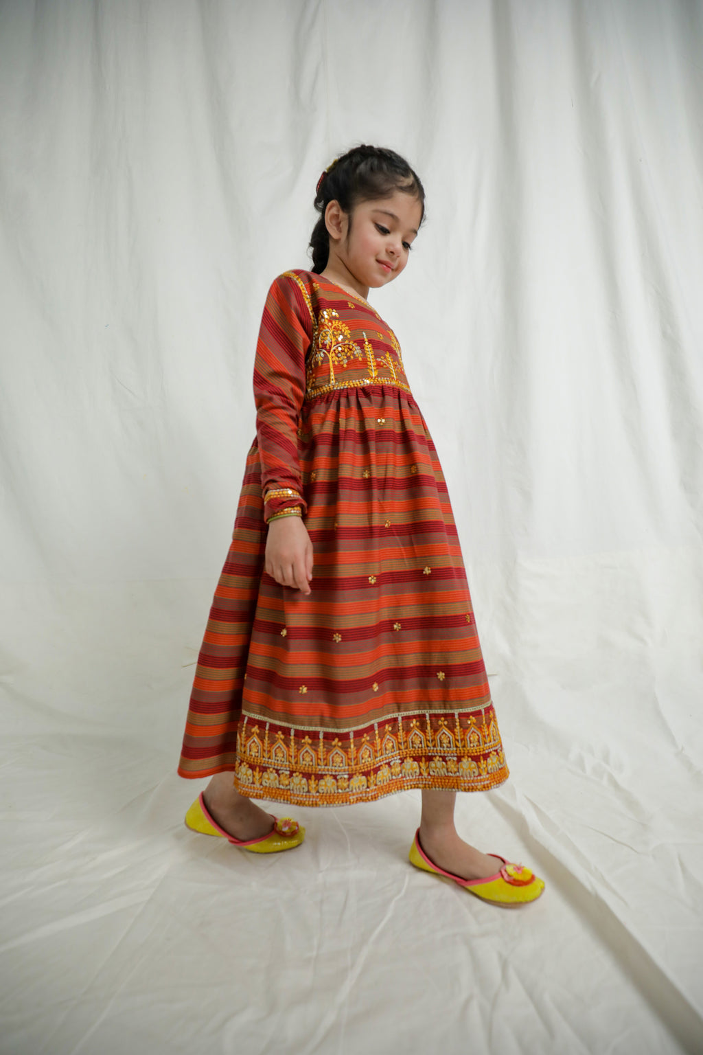 EMBROIDERED DRESS (GTB203326) - Ethnic by Outfitters