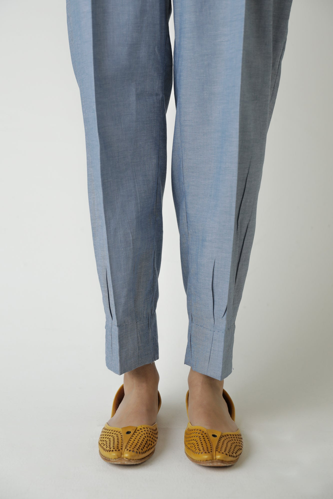 PLEATED HEM TROUSER (WBC111216) - Ethnic by Outfitters