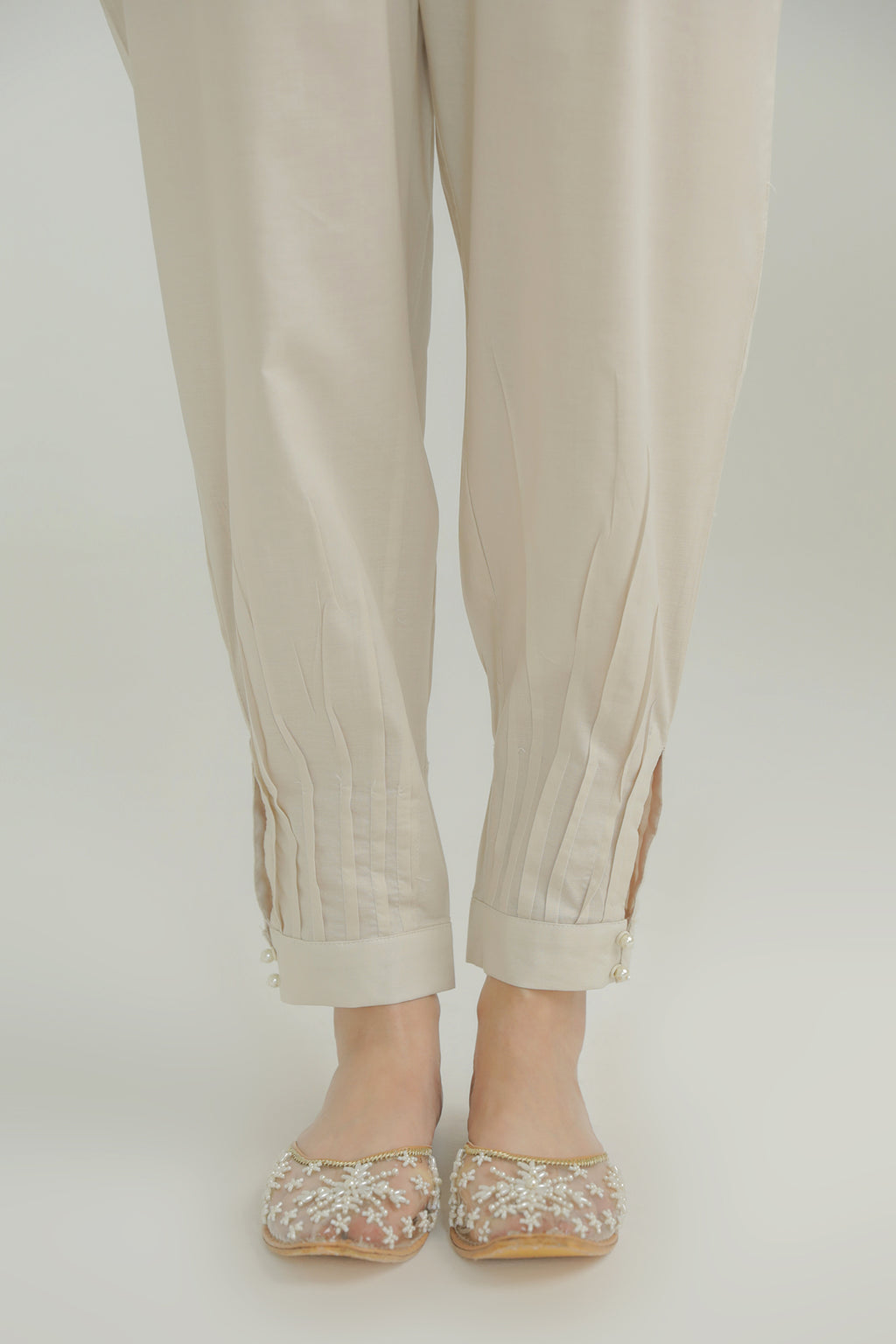 PLEATED HEM TROUSER (WBC211102) - Ethnic by Outfitters