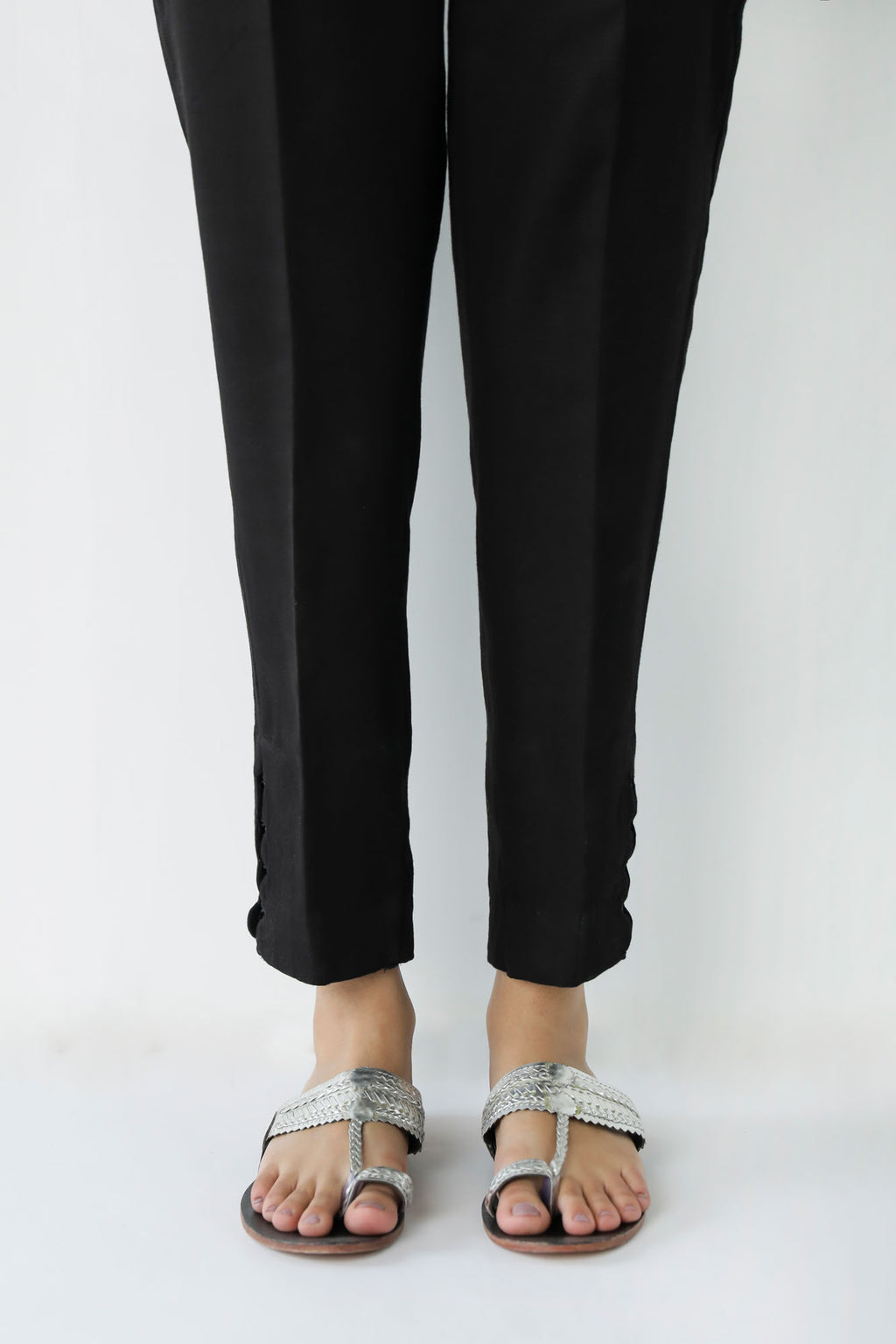 TAPERED CASUAL TROUSER (WBC401149) - Ethnic by Outfitters