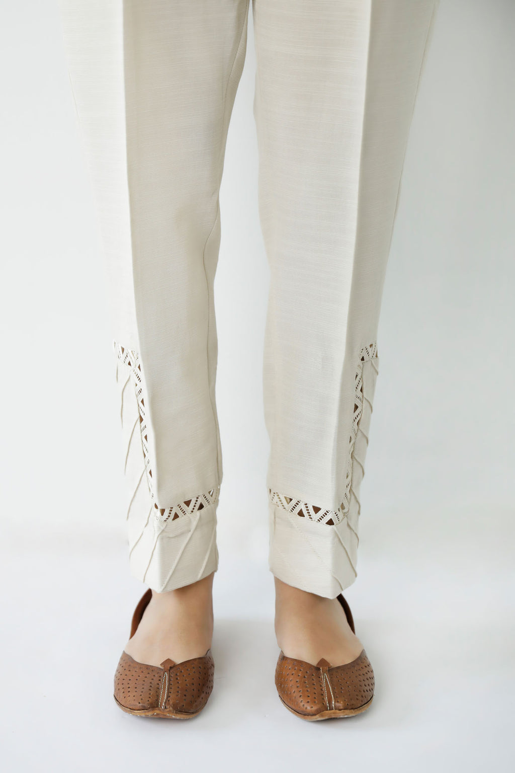 TAPERED CASUAL TROUSER (WBC401161) - Ethnic by Outfitters