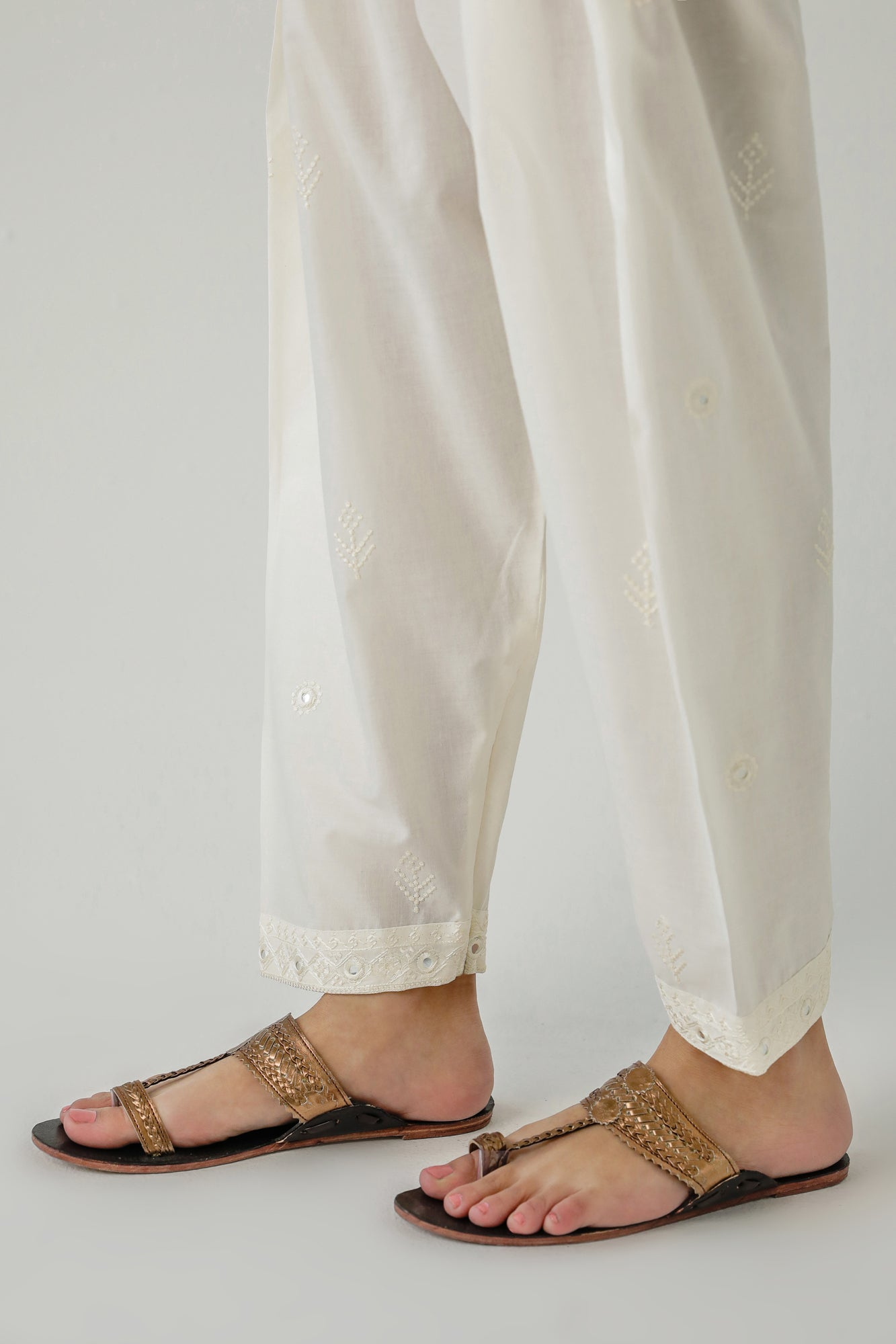 NARROW SHALWAR (WBP111764) - Ethnic by Outfitters
