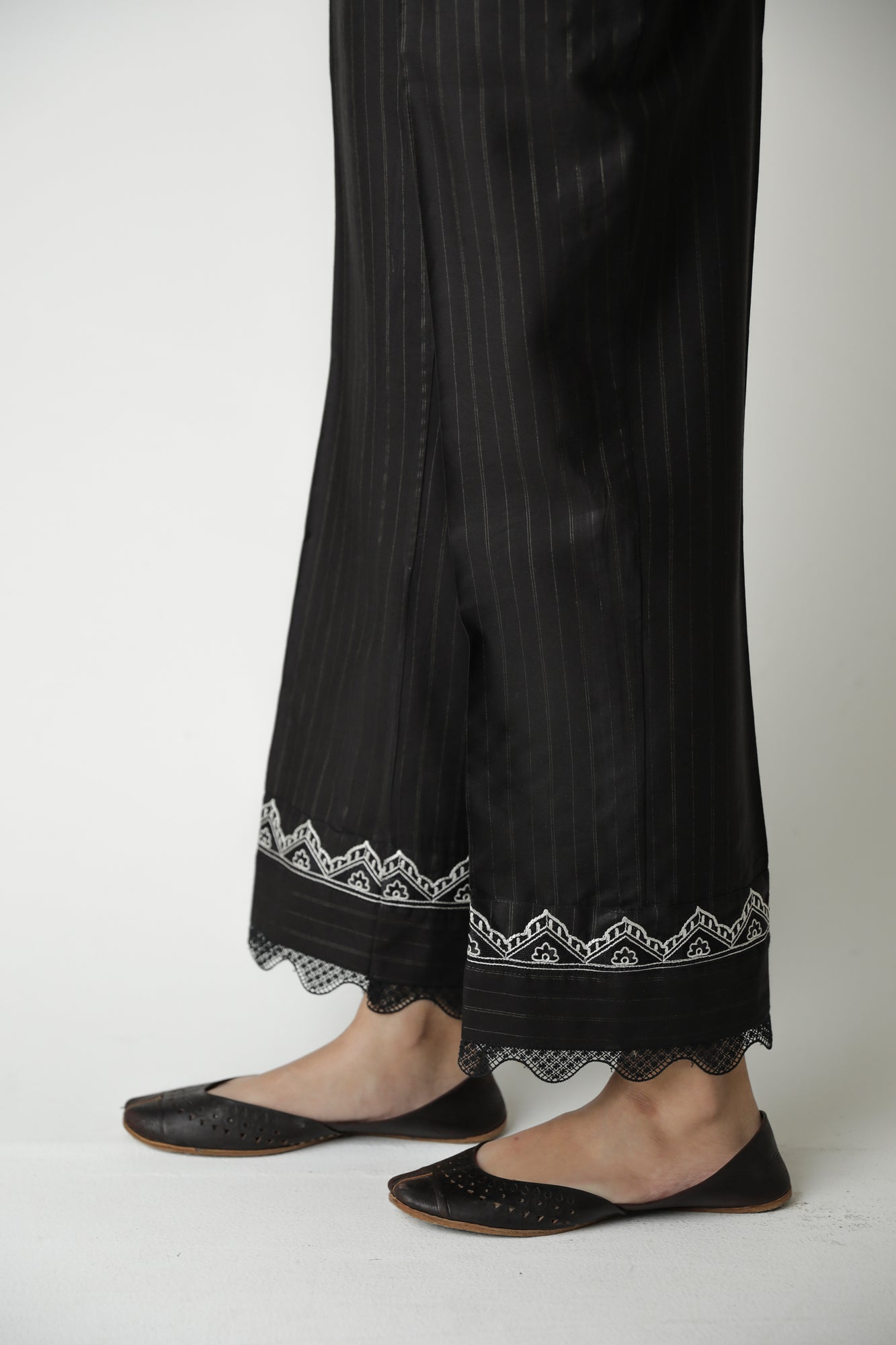 STRAIGHT FIT TROUSER (WBR111449) - Ethnic by Outfitters