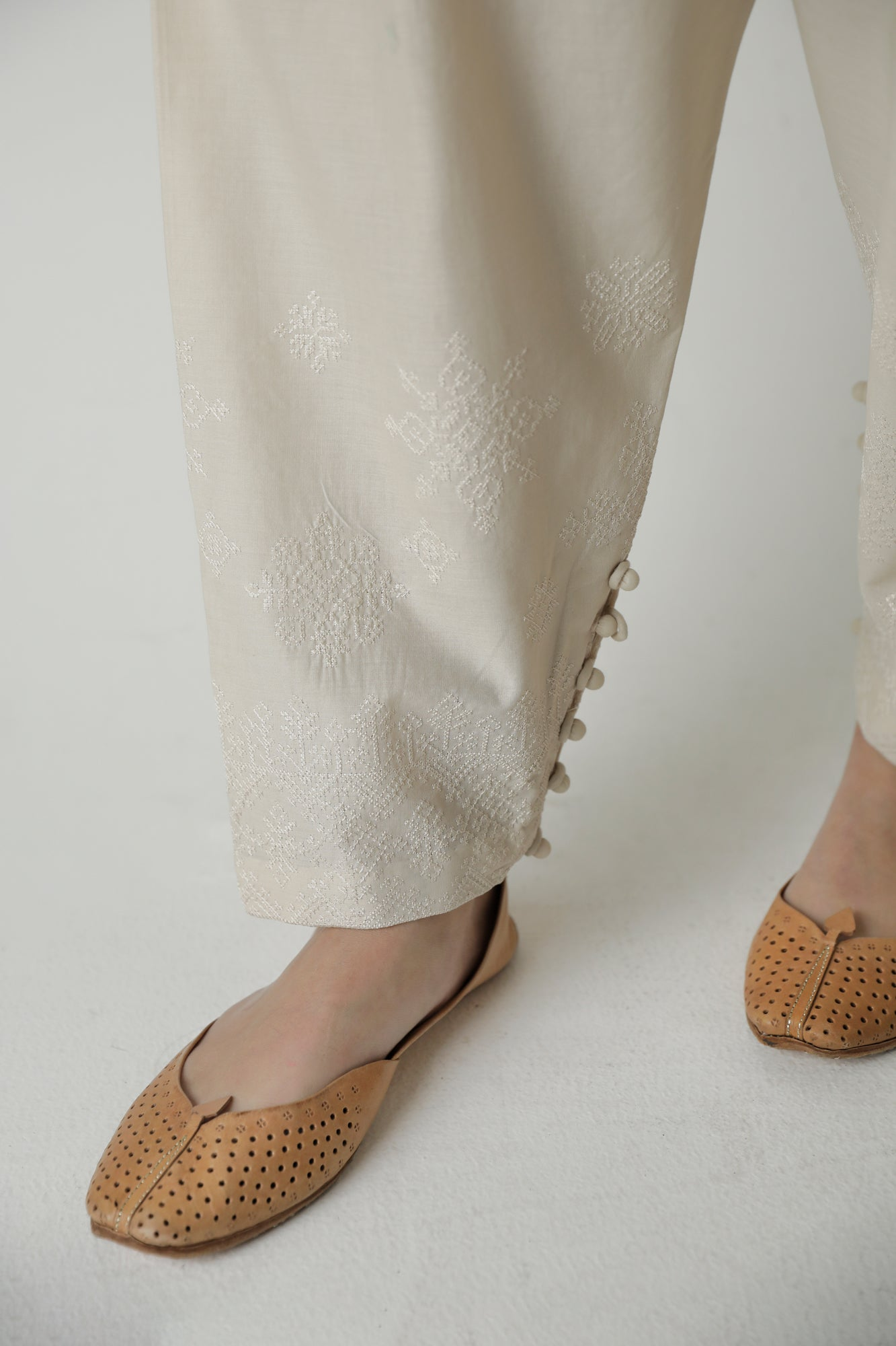 NARROW SHALWAR (WBR111452) - Ethnic by Outfitters