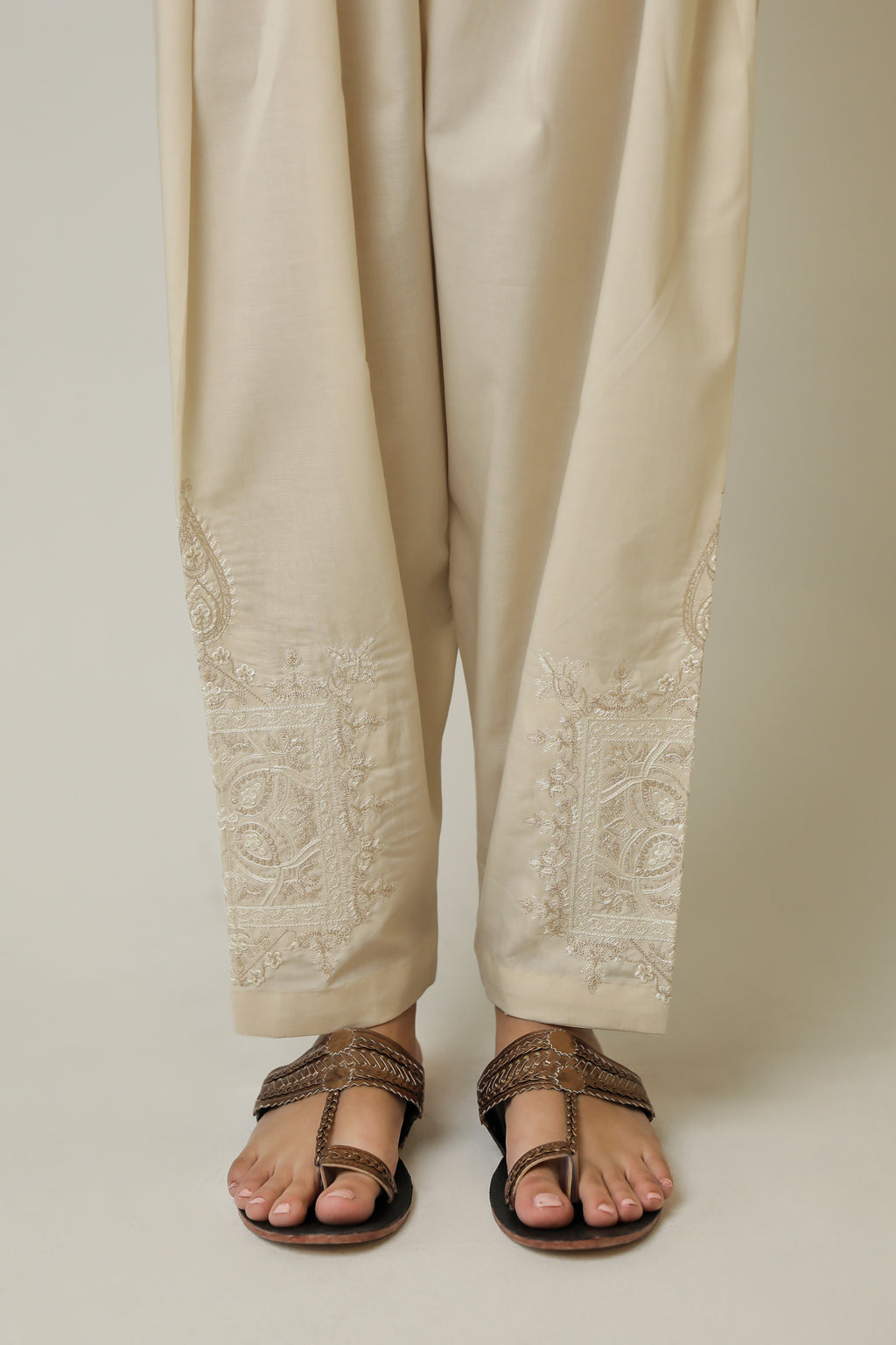NARROW SHALWAR (WBR111453) - Ethnic by Outfitters