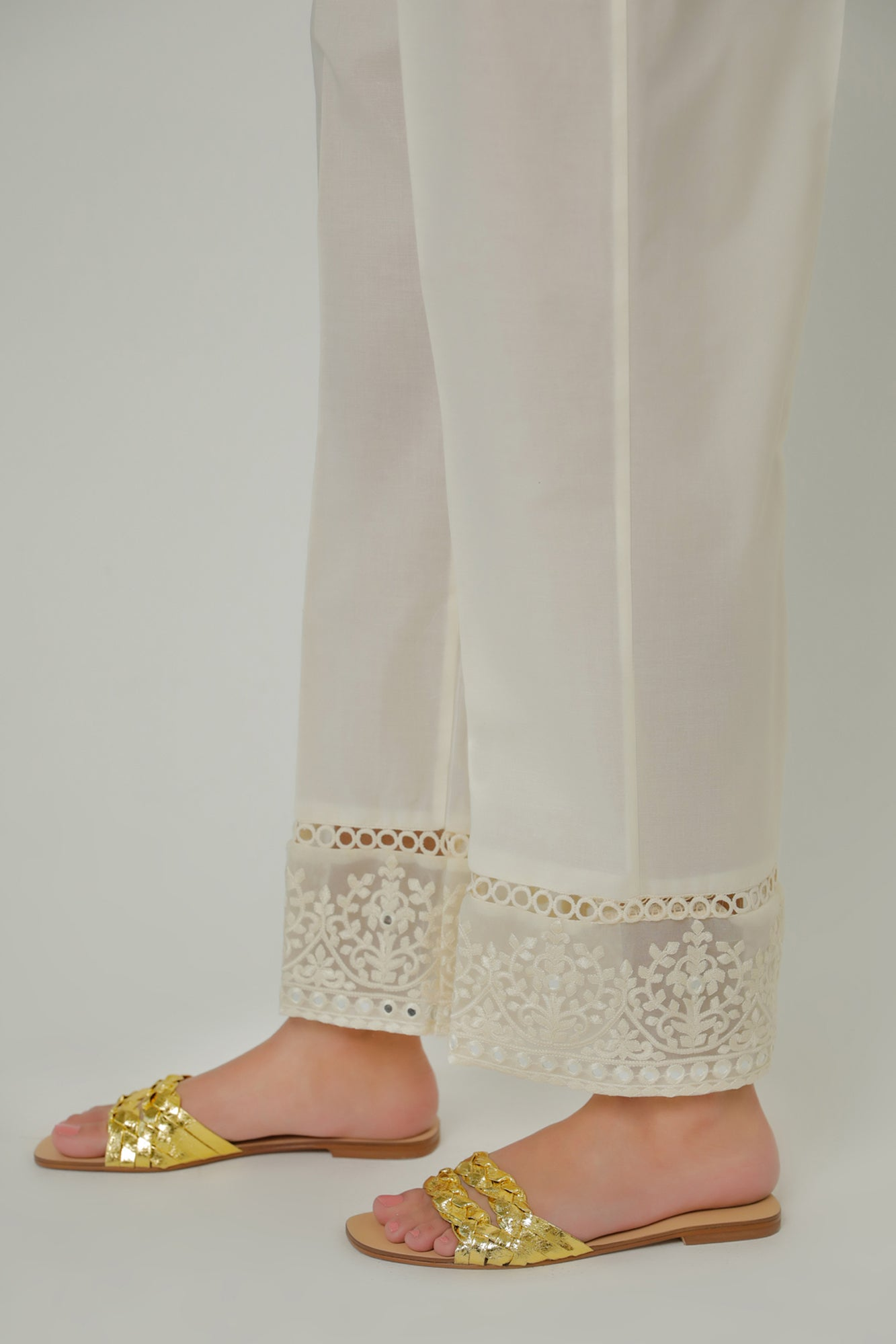 STRAIGHT FIT TROUSER (WBR211387) - Ethnic by Outfitters