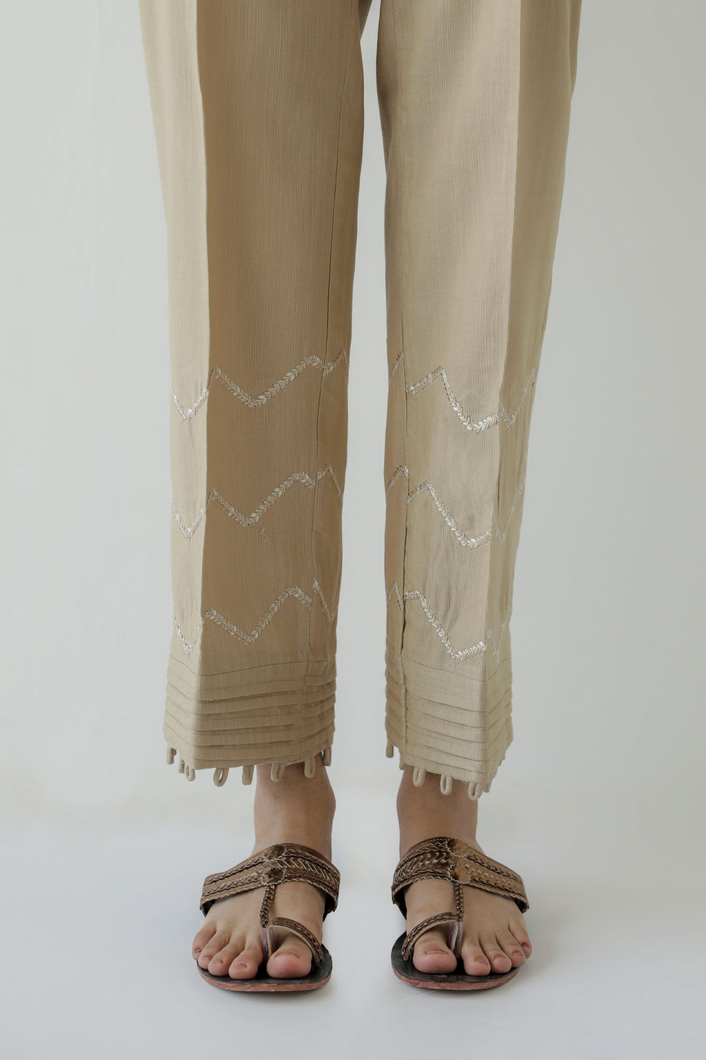 STRAIGHT CASUAL TROUSER (WBR401407) - Ethnic by Outfitters