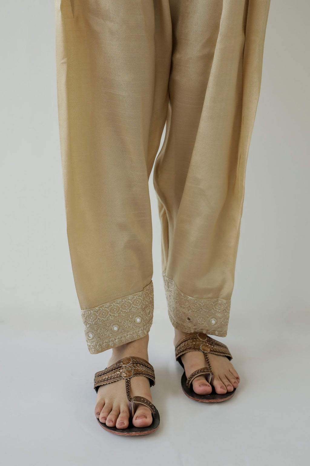 NARROW SHALWAR (WBR401410) - Ethnic by Outfitters
