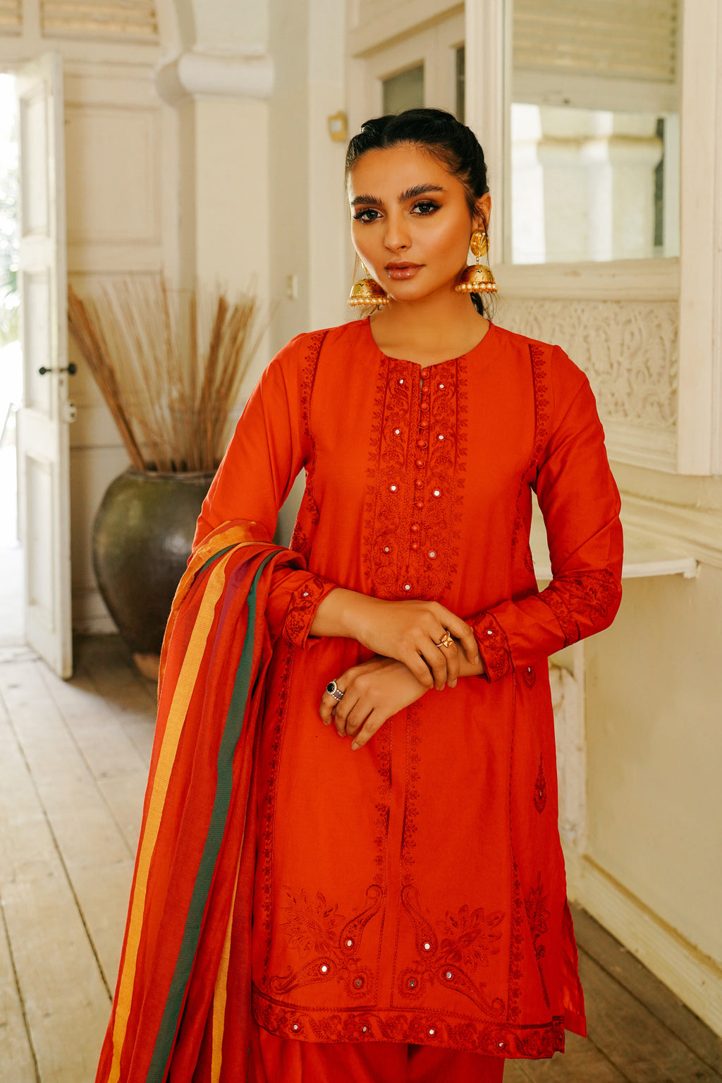 EMBROIDERED SUIT (WTB111503) - Ethnic by Outfitters