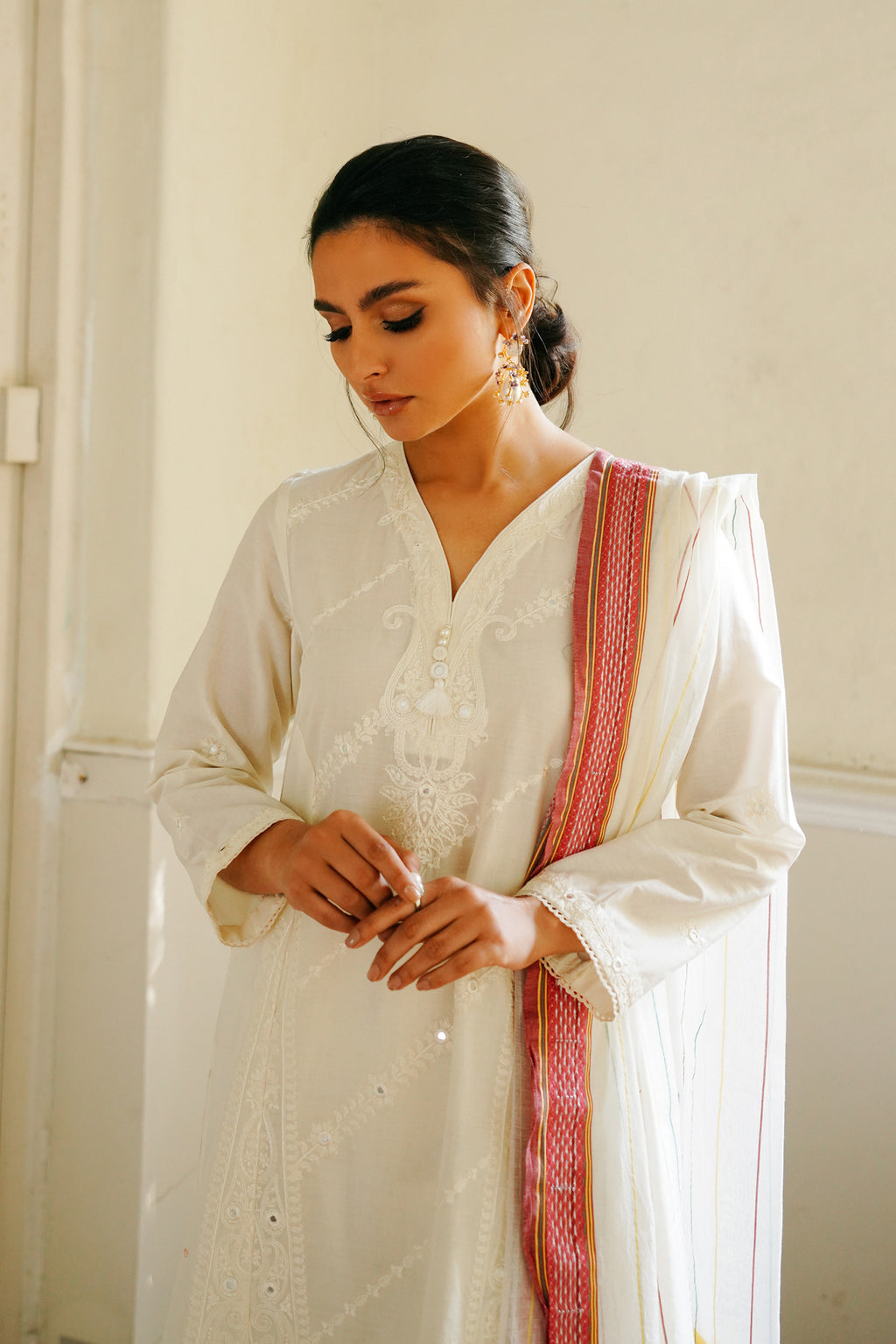 EMBROIDERED SUIT (WTB111509) - Ethnic by Outfitters