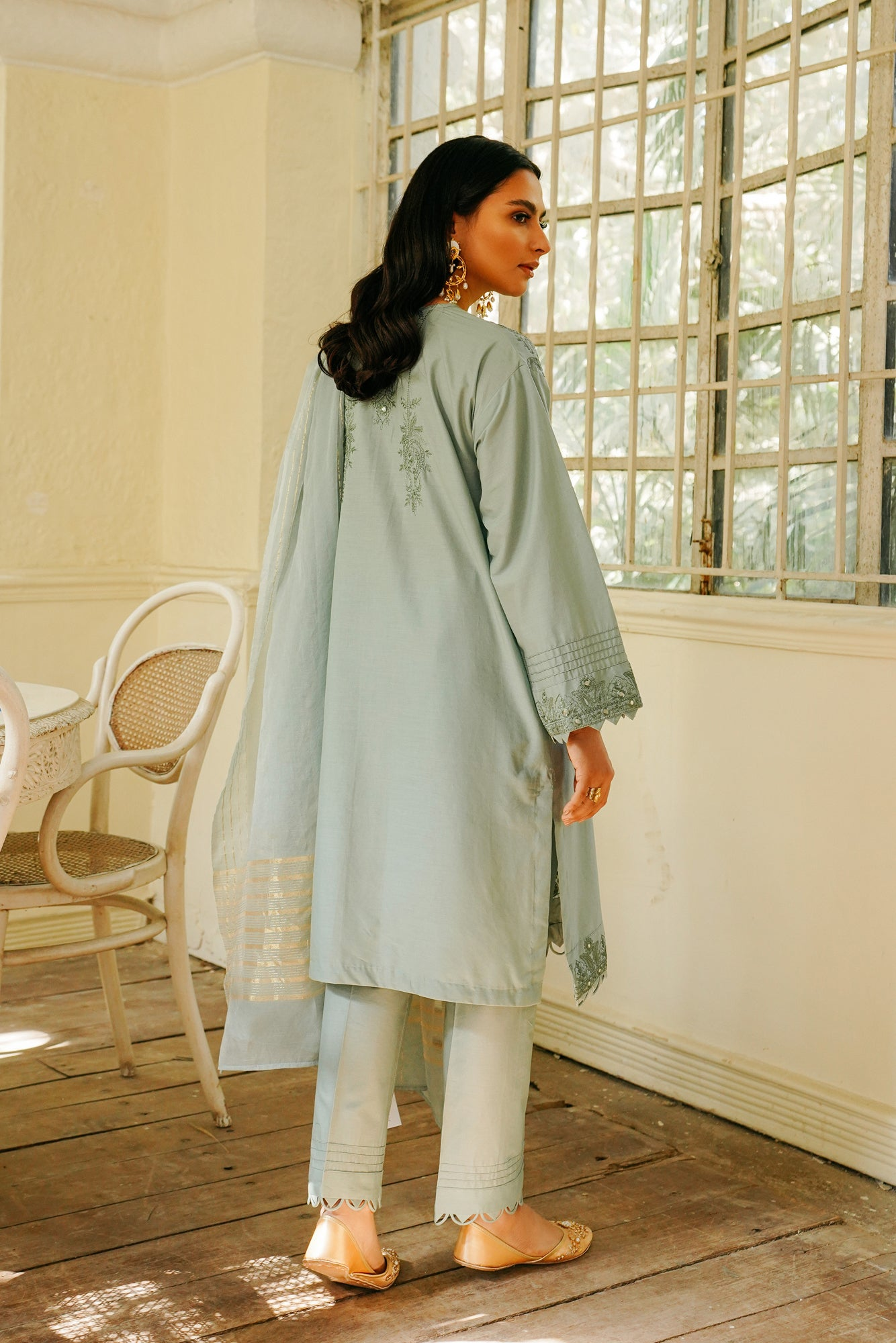 EMBROIDERED SUIT (WTB111514) - Ethnic by Outfitters