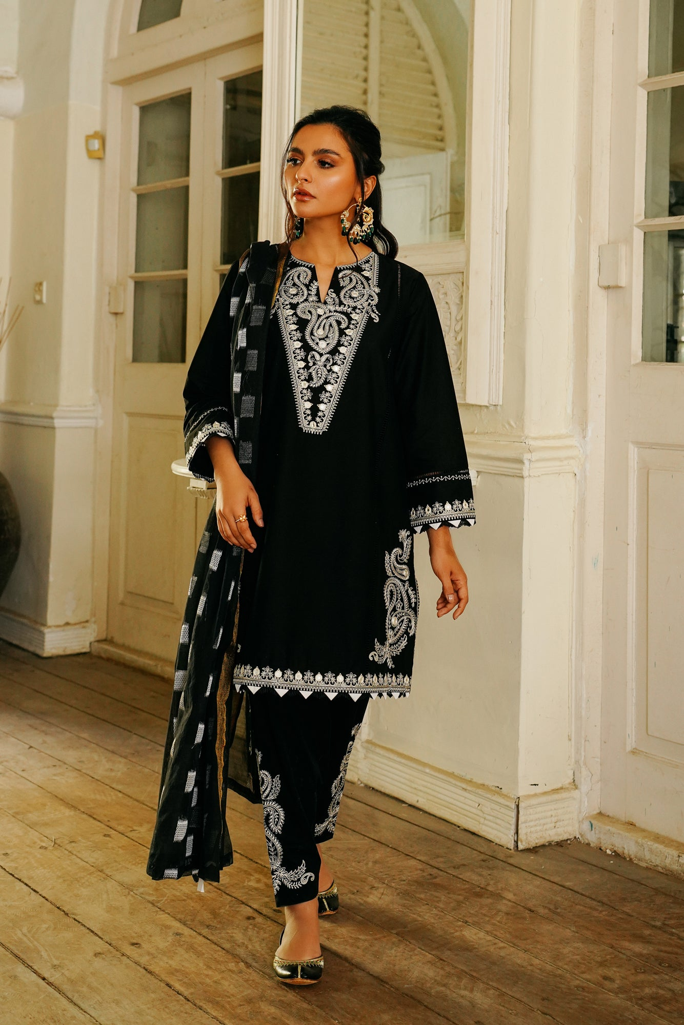 EMBROIDERED SUIT (WTB111516) - Ethnic by Outfitters