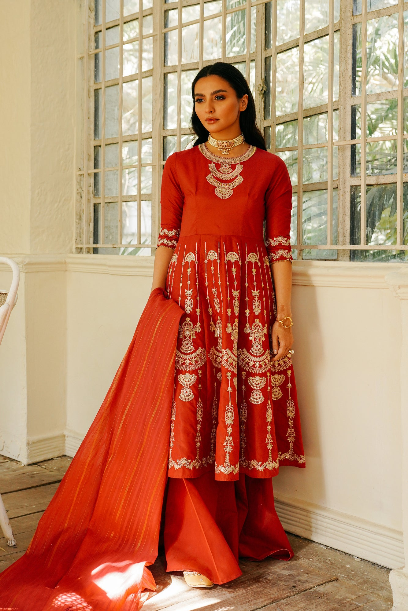 EMBROIDERED SUIT (WTB111527) - Ethnic by Outfitters