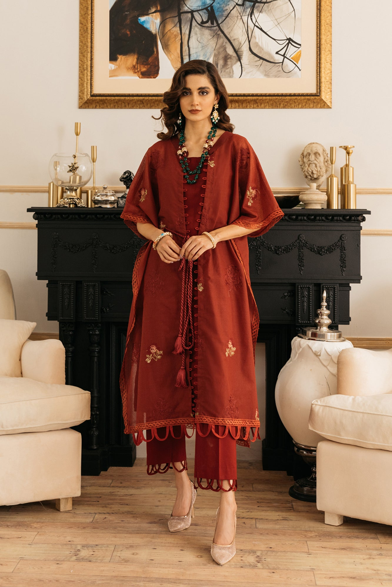 EMBROIDERED SUIT (WTB111874) - Ethnic by Outfitters