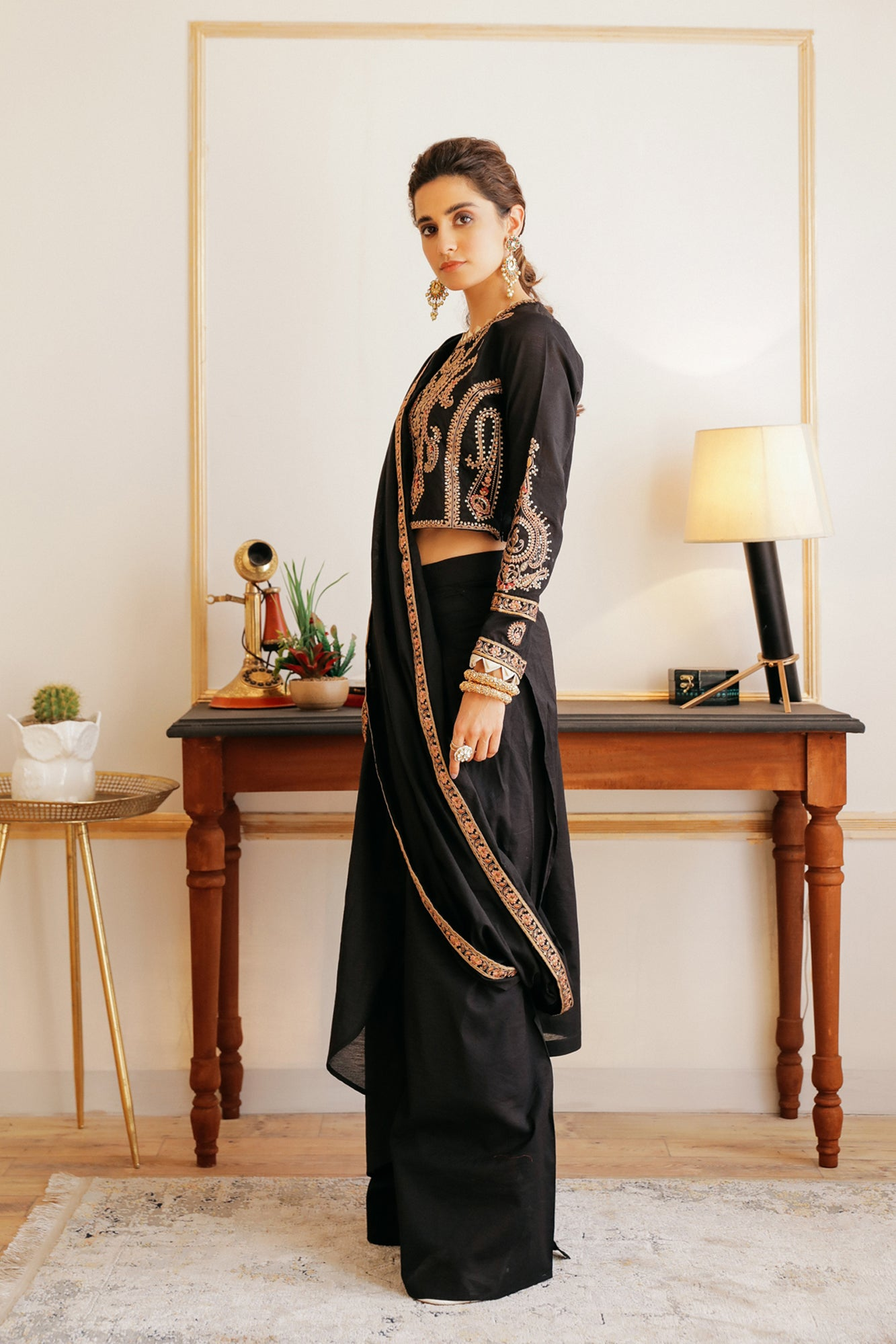 EMBROIDERED SAAREE (WTB111879) - Ethnic by Outfitters