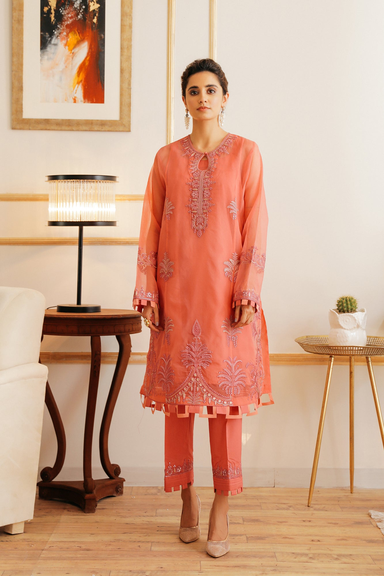 EMBROIDERED SUIT (WTB111898) - Ethnic by Outfitters