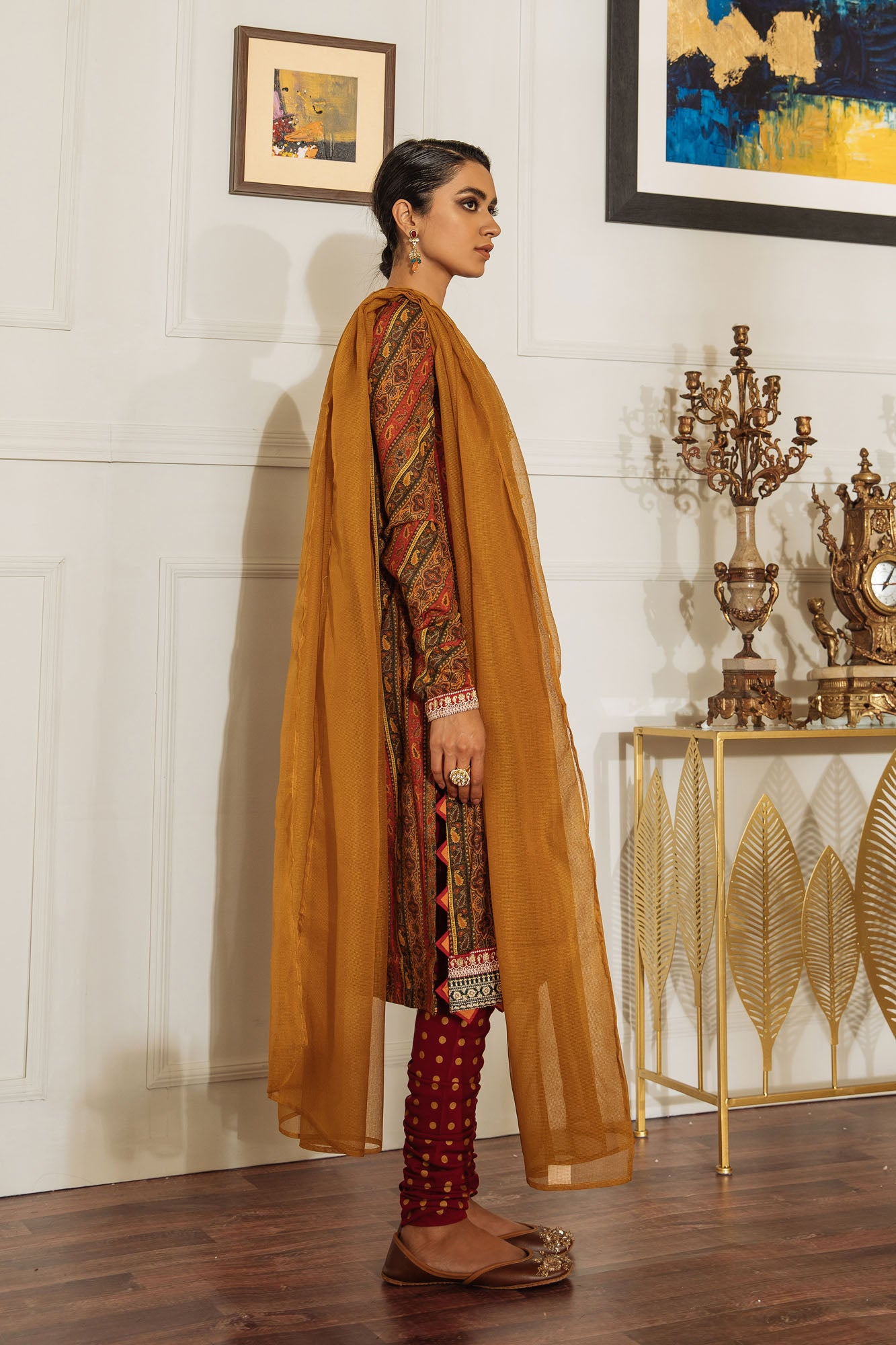 EMBROIDERED SUIT (WTB201523) - Ethnic by Outfitters