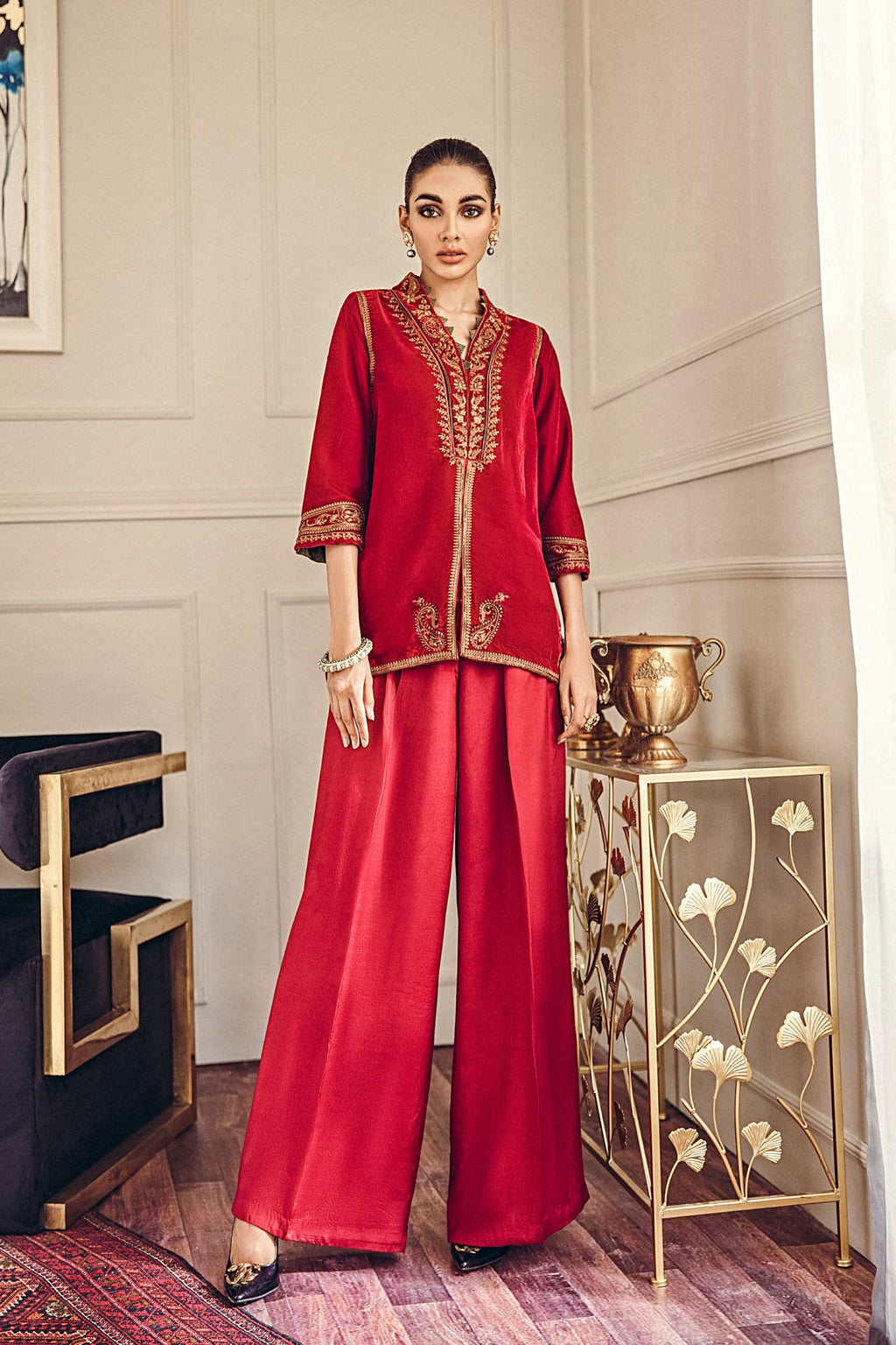 EMBROIDERED SUIT (WTB401451) - Ethnic by Outfitters