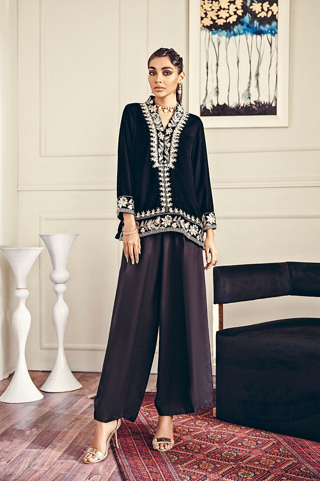 EMBROIDERED SUIT (WTB401452) - Ethnic by Outfitters