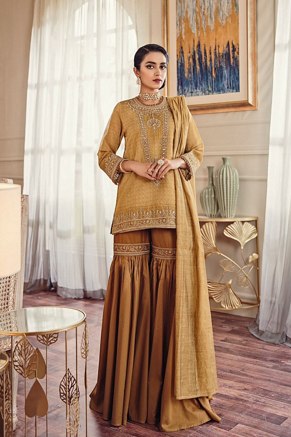 EMBROIDERED SUIT (WTB401455) - Ethnic by Outfitters