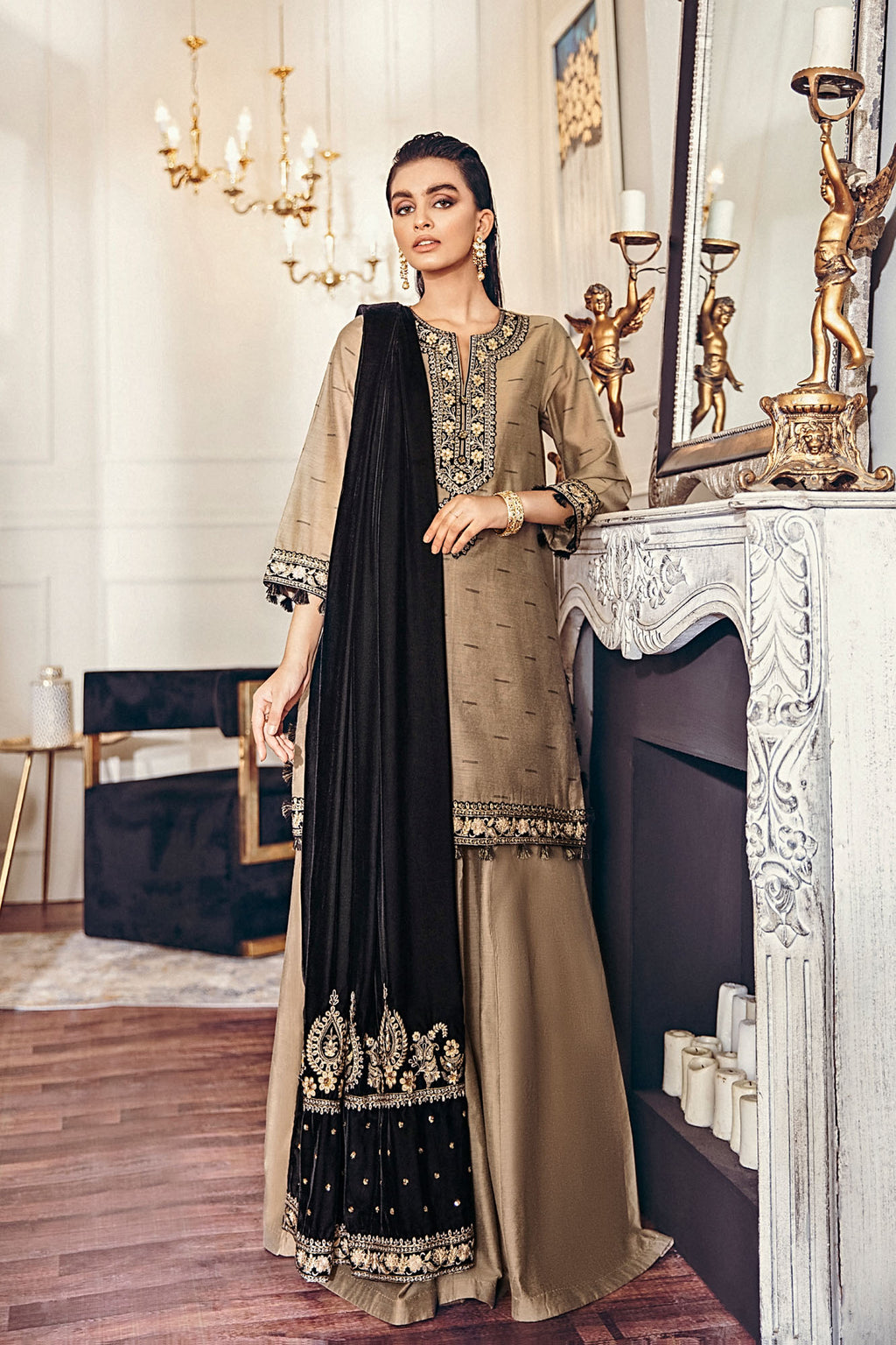 EMBROIDERED SUIT (WTB401456) - Ethnic by Outfitters