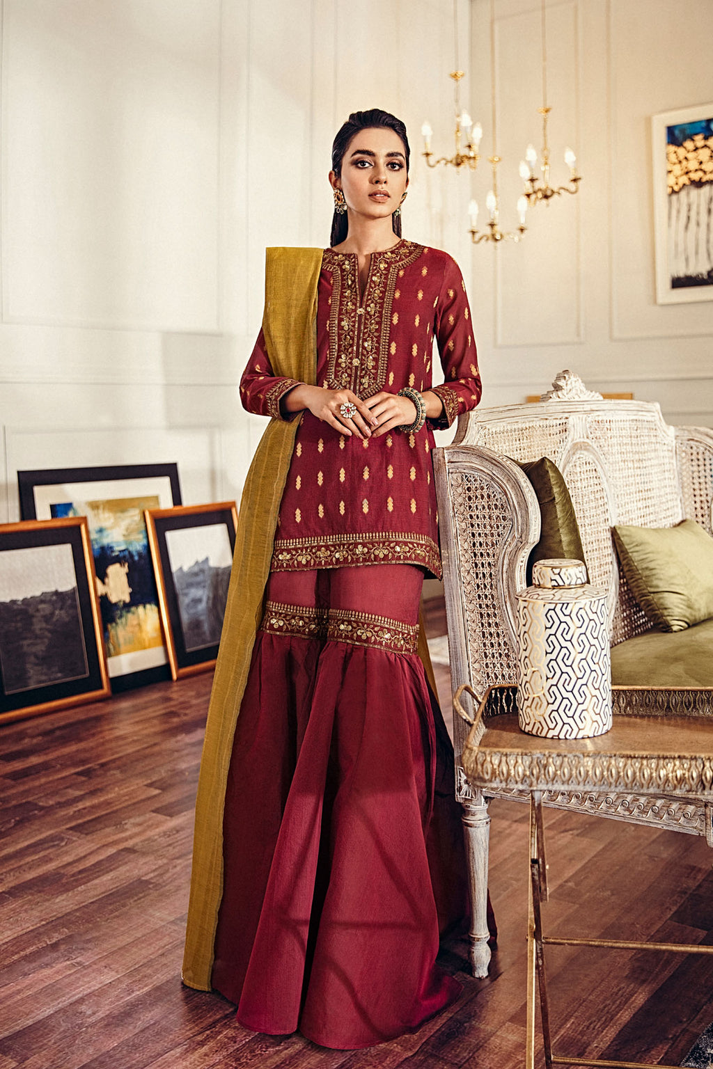 EMBROIDERED SUIT (WTB401459) - Ethnic by Outfitters