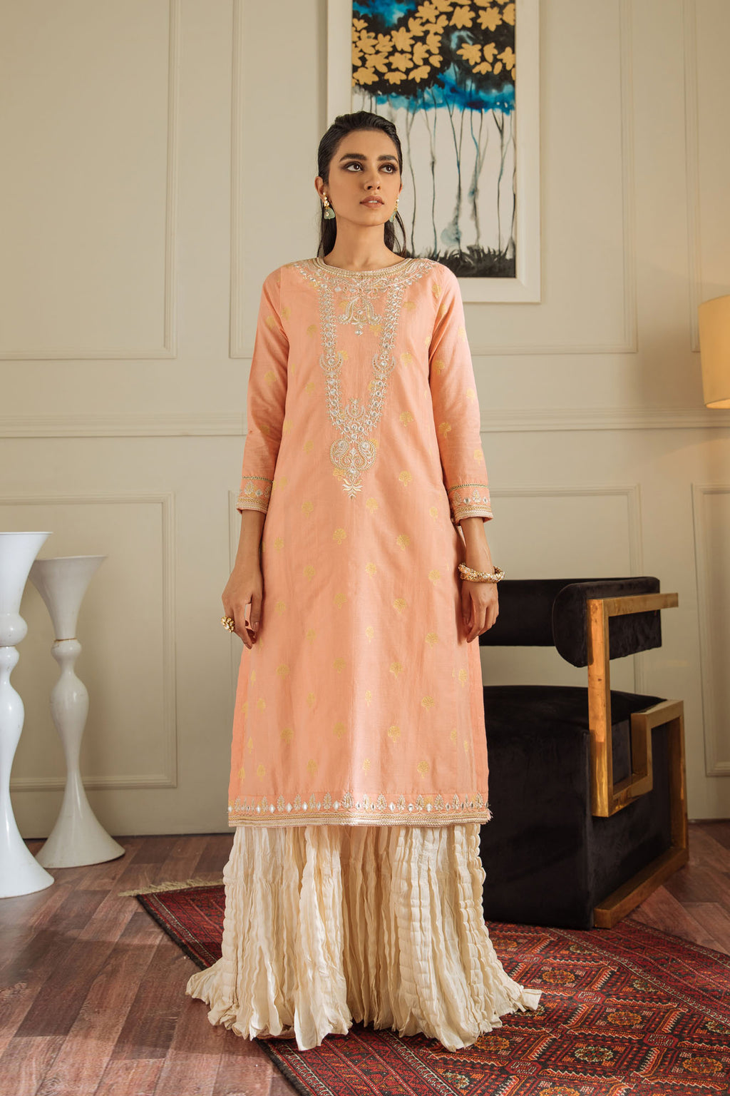 EMBROIDERED SUIT (WTB401462) - Ethnic by Outfitters