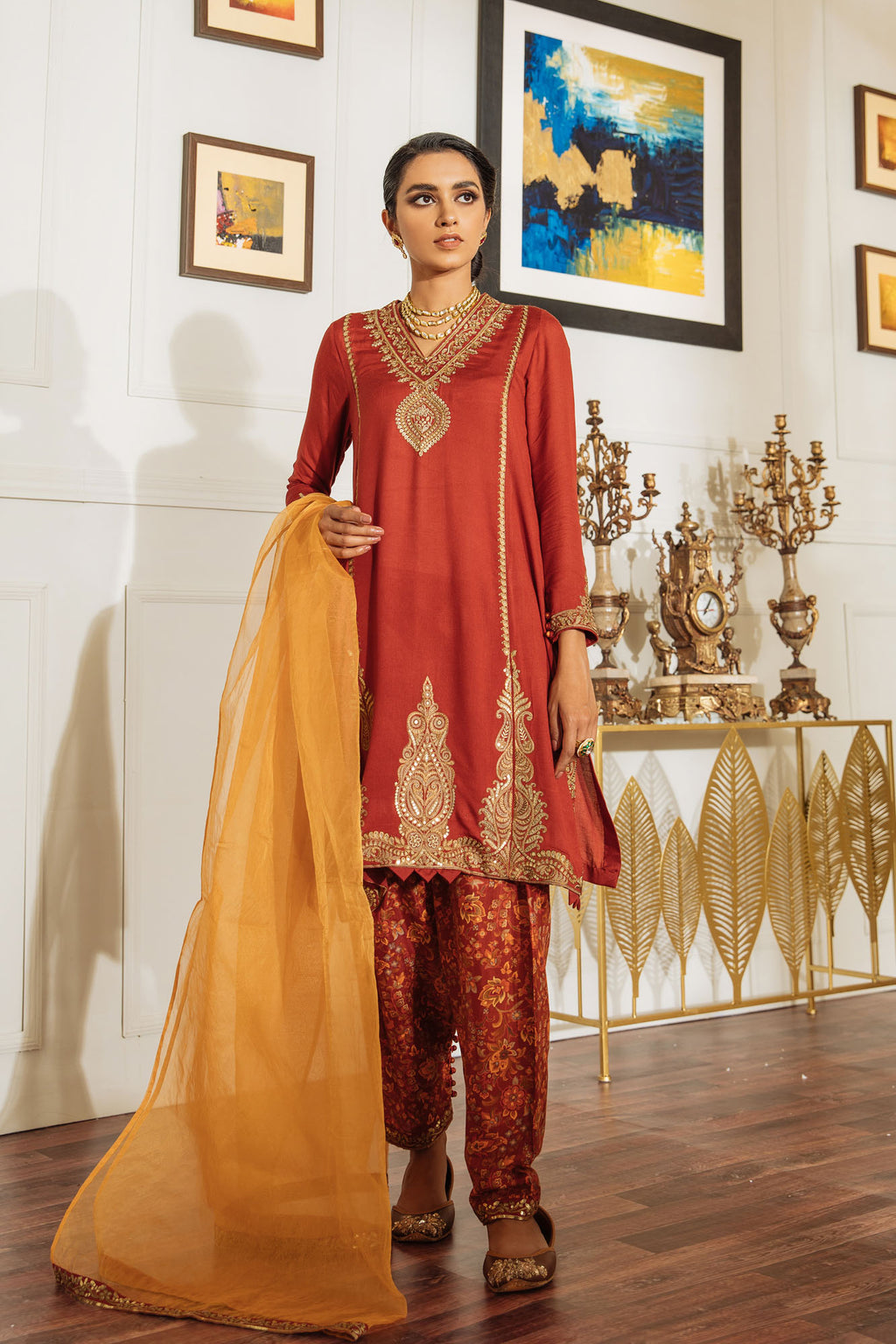 EMBROIDERED SUIT (WTB401463) - Ethnic by Outfitters
