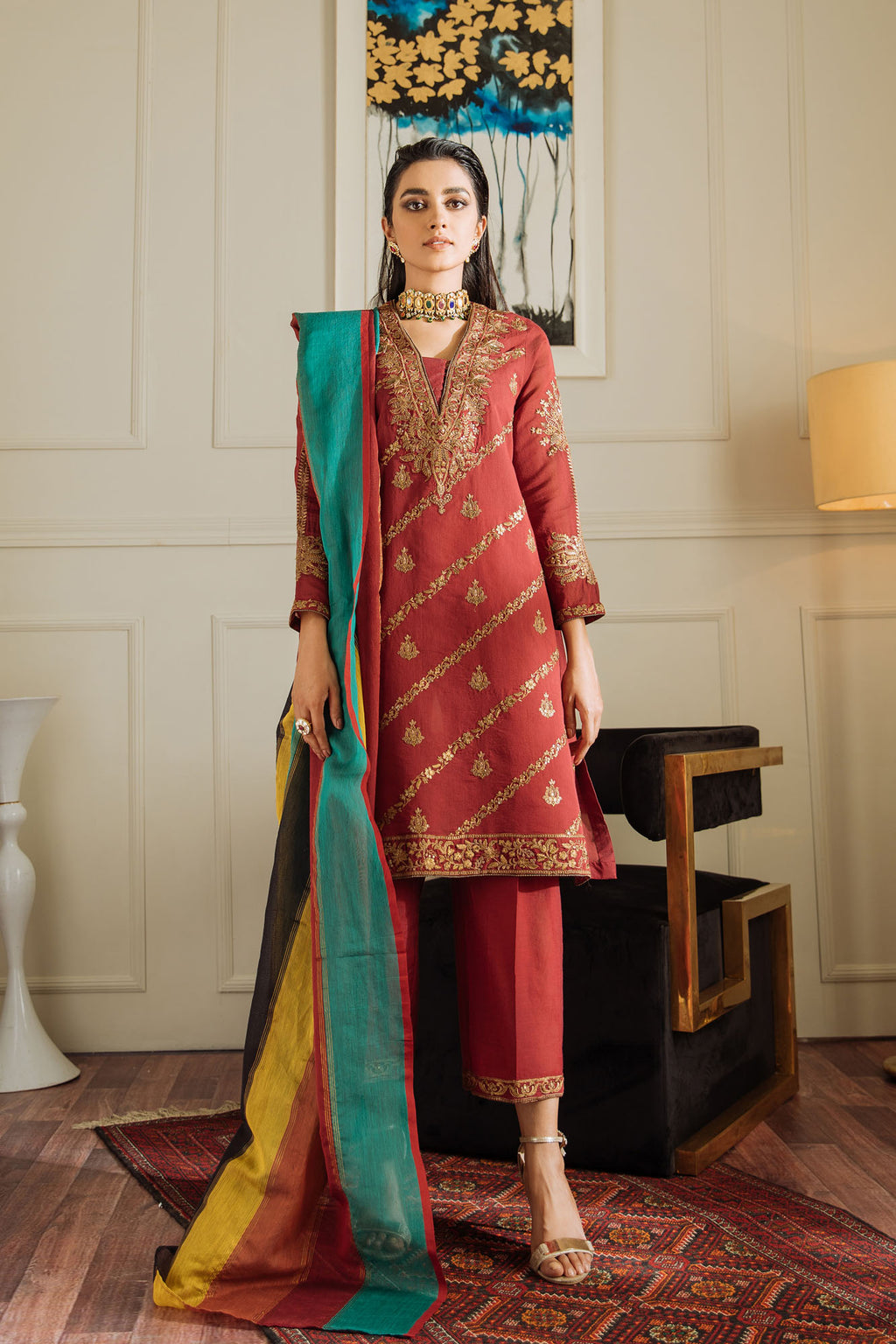 EMBROIDERED SUIT (WTB401464) - Ethnic by Outfitters