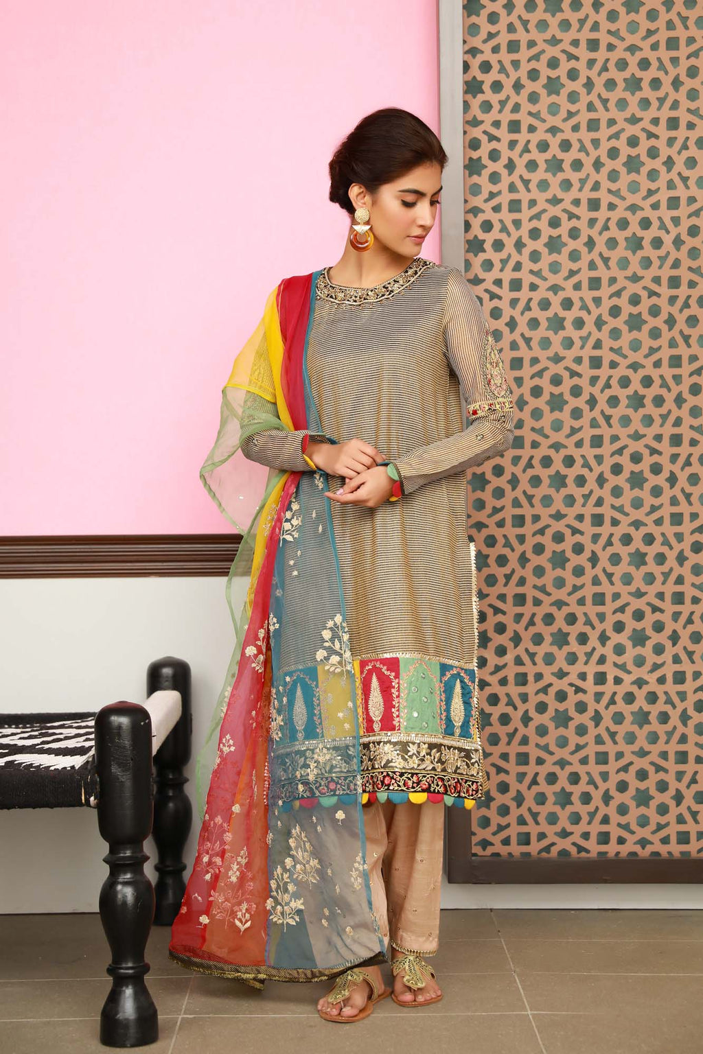 Boutique Suits (Shirt + Dupatta) - Ethnic by Outfitters