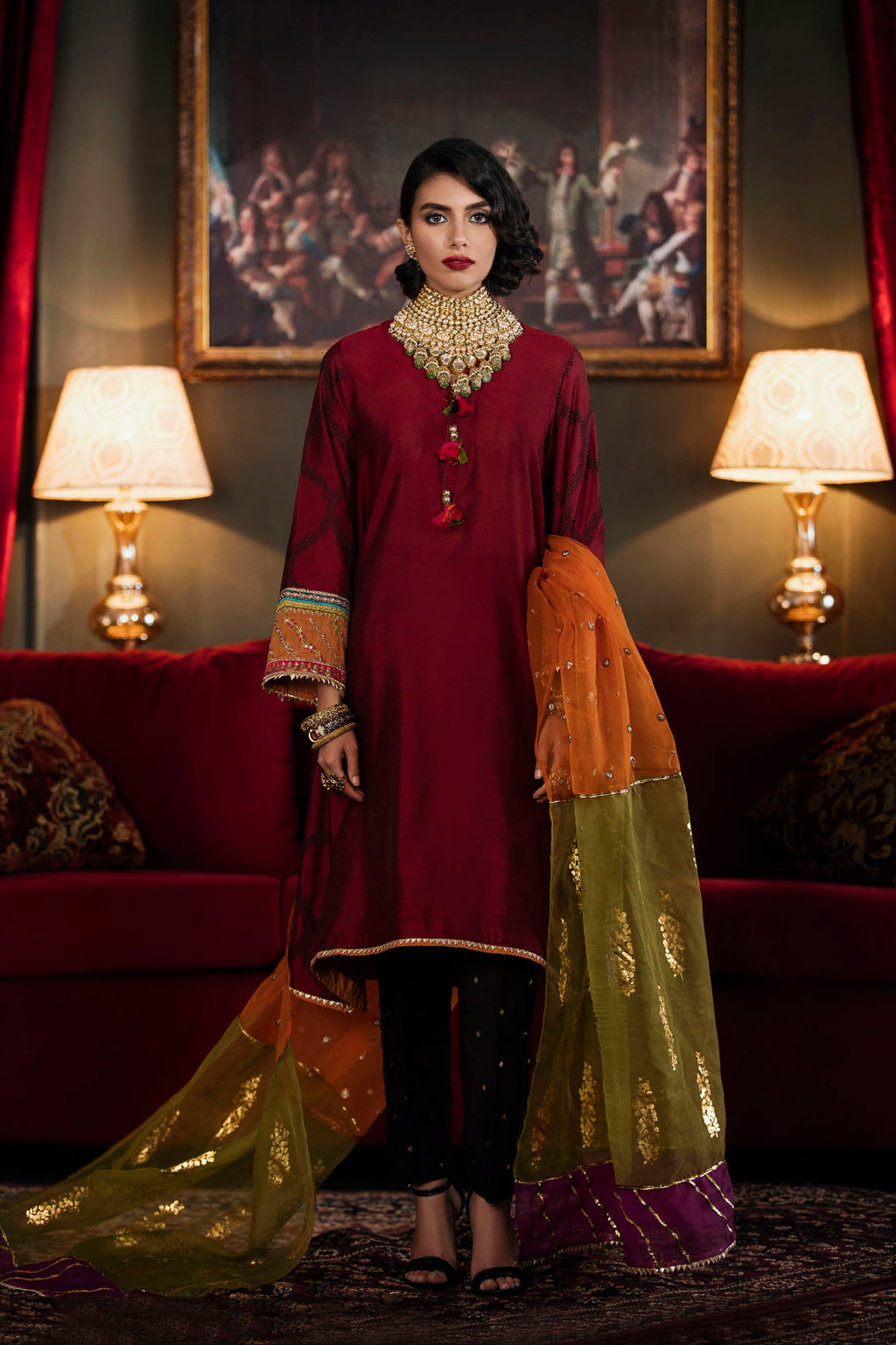 Boutique Suit (Shirt + Dupatta) - Ethnic by Outfitters