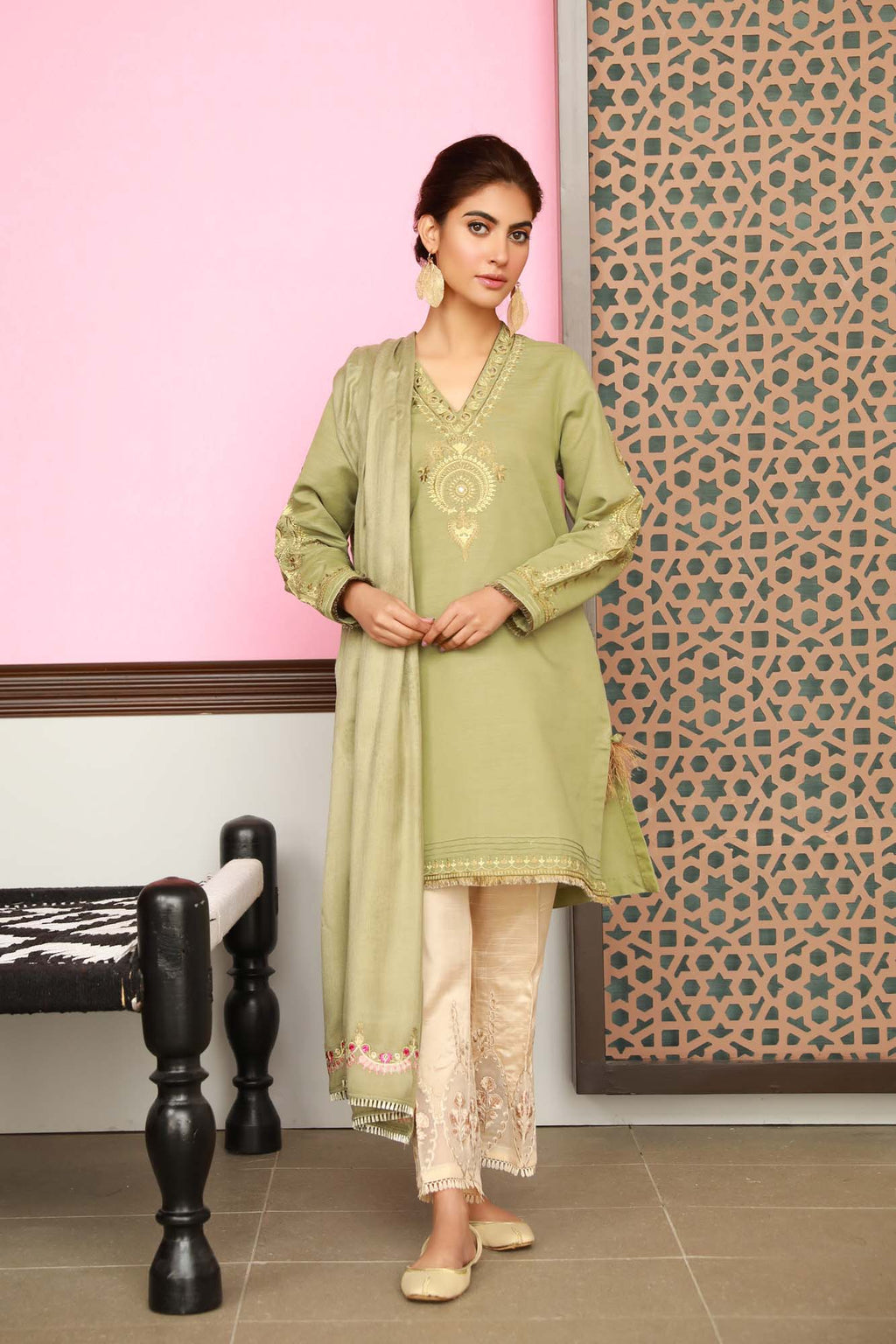 Boutique Suits (Shirt + Shawl) - Ethnic by Outfitters
