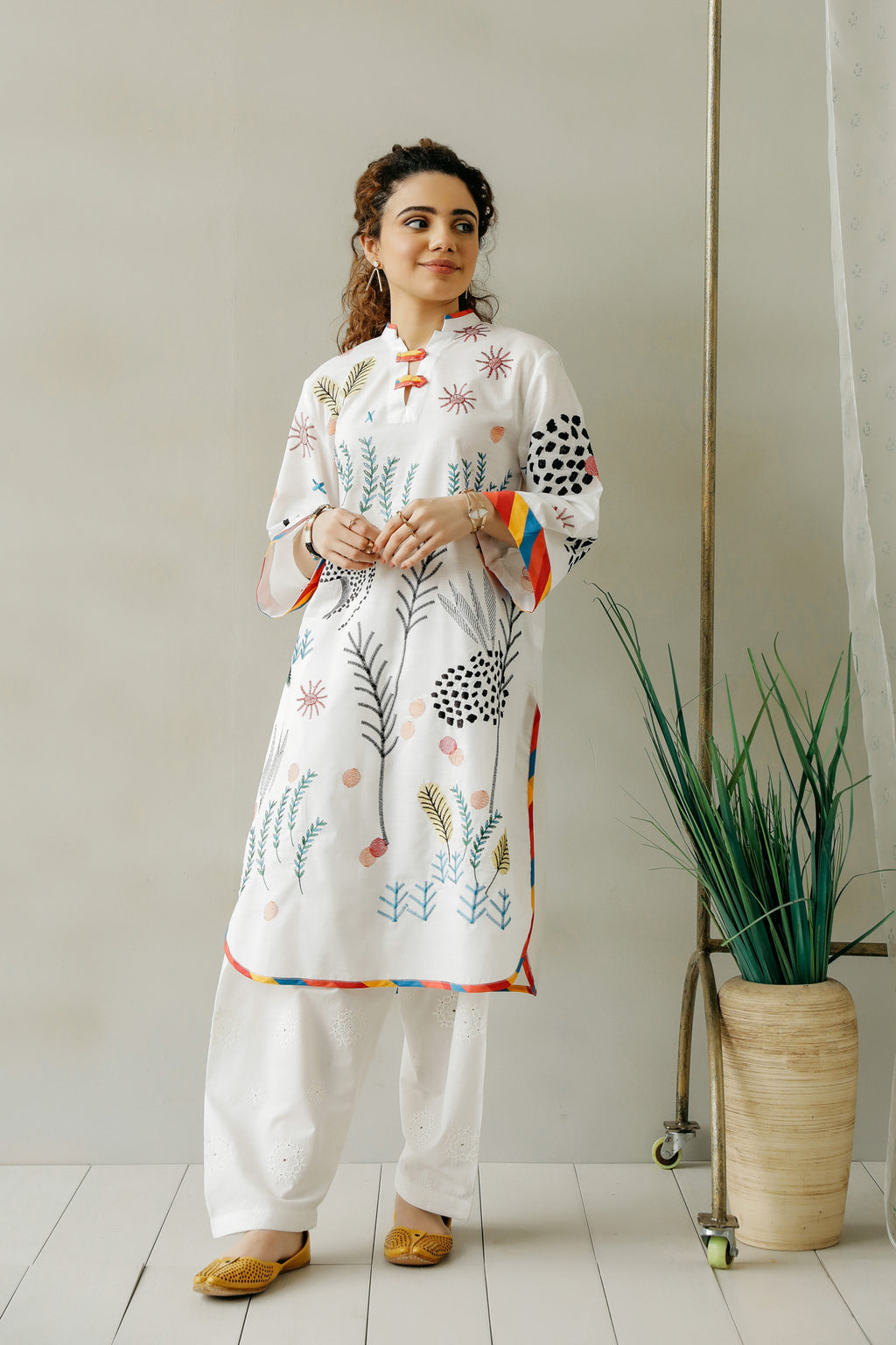 EMBROIDERED SHIRT (WTC111003) - Ethnic by Outfitters
